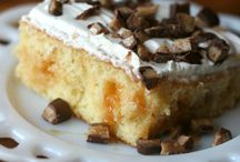easy candy bar poke cake