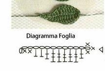 hojas crochet