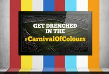#CarnivalOfColours / 32 nations drenched in their national colours go head to head in the quest to capture football's ultimate pride!  So cheer for your favourite colour during the #CarnivalOfColours!