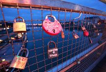 POLAND, Krakow / Locks of Love in Krakow. The first catch of the book Bridges of Love in Europe ... :-)