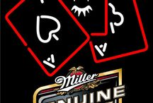 Miller MGD with Poker Neon Signs