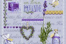 Cross stitch patterns - lavender