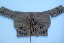 Crochet crop tops
