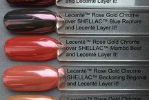 Shellac and Lesentè glitter