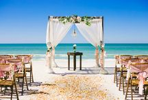 Idyllic beach weddings. / From seashell bouquets to starfish decor or your exciting reception on a boat. Get lost in an abundance of beach wedding inspiration.