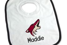 Arizona Coyotes Baby Gifts / Personalized Baby Gifts For Fans Of The Arizona Coyotes NHL Hockey Team.