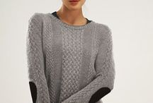 Boyfriend Sweaters / Stealing from the guy's closet for our own - patterns to knit and styling inspiration