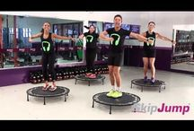 Rebounder jumping and exercises