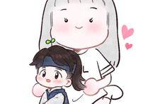 baekhyun baby fanart><