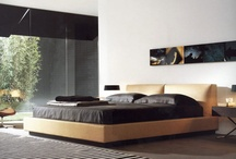 Classic King-size Mattress Upholstered Headboard Camel Leather Poppy Bed.