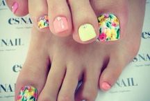 Toe nails design / Acrilic toe nails