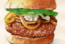 Jedzenie - ilustracje