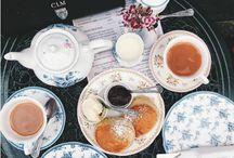 garden club / civilized proper English classic girlish tea flowers cake books old ladies jam quaint