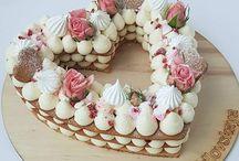 Torta frutas flores y capas