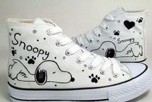 Drawing on shoes