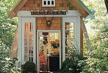 "She Sheds / Heard about 'She Sheds'? These are unique garden shed sanctuaries that let busy women get away from it all! Arts, crafts, or just plain relaxation, we love how creative some of these ladies make their ""home away from home"" in their own backyard!"