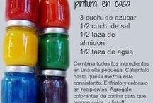 Pintura casera para pintar botellas