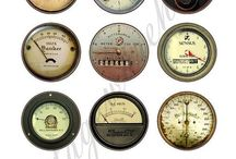 Industrial vintage meters