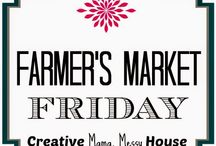 Farmer's Market Friday at Creative Mama Messy House / Pins from the Farmer's Market Friday Link Up Party on Creative Mama Messy House