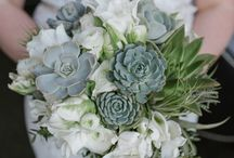 Weddings: Classic Whites and Greens / Wedding Bouquets in white, cream and green tones created by our certified wedding designers here at Bradford Greenhouses Garden Gallery, Barrie Ontario.