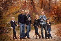 Familie utendørs