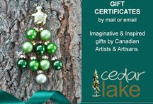 Cedar Lake & Trees / Not sure which gift they would like best? Let them decide and have fun choosing from Cedar Lake's selection of imaginative Canadian artist and artisan products. Available by mail and email. http://www.cedarlake.ca