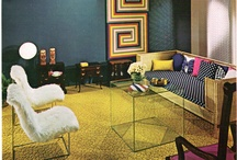 retro interiors / Retro vintage 50's mid century