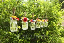 clothesline / by Cupcakes and Crinoline