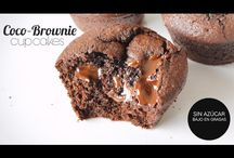 Brownie de coco con chocolate