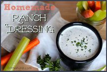 DIY Salad dressings and Sauces / As with the breakfast cereals and snacks, I am also doing my best to get away from bottled salad dressings and jarred pasta sauces that are expensive and full of fattening, unhealthful ingredients. Home made dressings and sauces really do taste better and fresher. Once you get used to them, there is no going back. :)