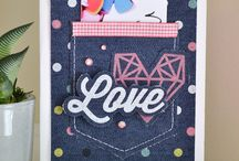 Denim Blues / Projects made or inspired by the Denim Blues Collection from We R Memory Keepers