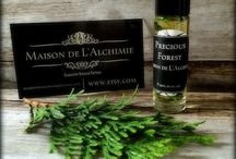 Maison de L'Alchimie / My line of all natural botanical perfumes on Etsy and www.maisondealchimie.com