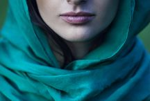 Scarf portrait photography