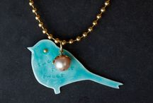 Bird Necklaces and Bracelets / A variety of birds, handcrafted into unique jewelry incorporating silver, gold, enamel, and gemstones.