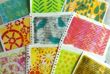 Gelli printing / Examples of gelli printing from all over