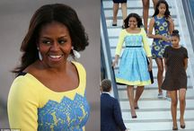 First Lady Michelle Obama wears our earrings / First Lady Michelle Obama wears Susan Hanover precious drop earrings during her visit to the U.K. in June