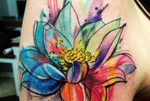 lotus aquarela
