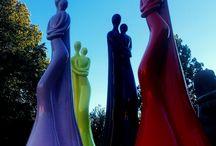 HUGS sculpture artworks by Vassiliki.