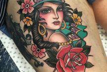 Traditional Tattoo Woman