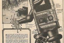 Oud of retro: stijlvolle posters / Art deco, de Stijl, illustraties: posters en affiches met een oud tintje.