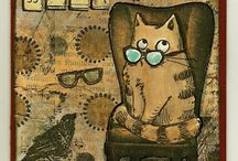 Katzen gestempelt