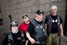 """PKN (PERTTI KURIKAN NIMIPÄIVÄT)   Finland Eurovision 2015 / Pertti Kurikan Nimipäivät, also known as PKN, is a Finnish punk rock band, formed in 2009 in a charity workshop for adults with developmental disabilities. In 2015, they represented Finland in the Eurovision Song Contest 2015 with """"Aina mun pitää""""."""