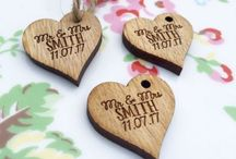 Wooden Accessories, Favours & Save the Dates! / All things wooden are a massive trend this year! Why not have a look at our wooden range which is unique, affordable and stunning.
