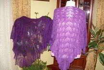 chusty / chusty wykonane na drutach i szydełku