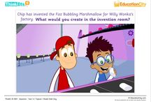 English Lesson Starters / EducationCity has created some great English/Literacy ThinkIts, which are great for starting of class discussions about a new author, book or topic.  / by EducationCity