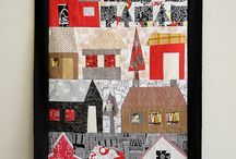 Quilts - Houses, buildings / by Cindy Peterson