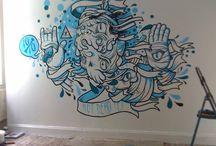 Inspiration - Wall Murals {Colour}