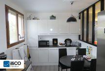 Rénovation intérieure à Lyon / Il s'agissait pour le client de rénover et de réaménager plusieurs pièces de la maison. Les travaux les plus importants ont été réalisés dans le séjour, la salle à manger et dans la cuisine.