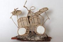 sculpture papier livre et cordon