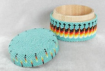 Beaded boxes.